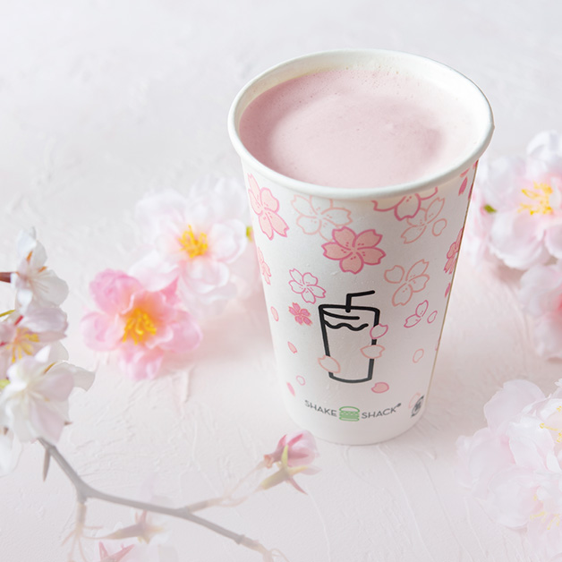 シャクラシェイク, cherry blossom shake, sakura shake, shake shack, japan