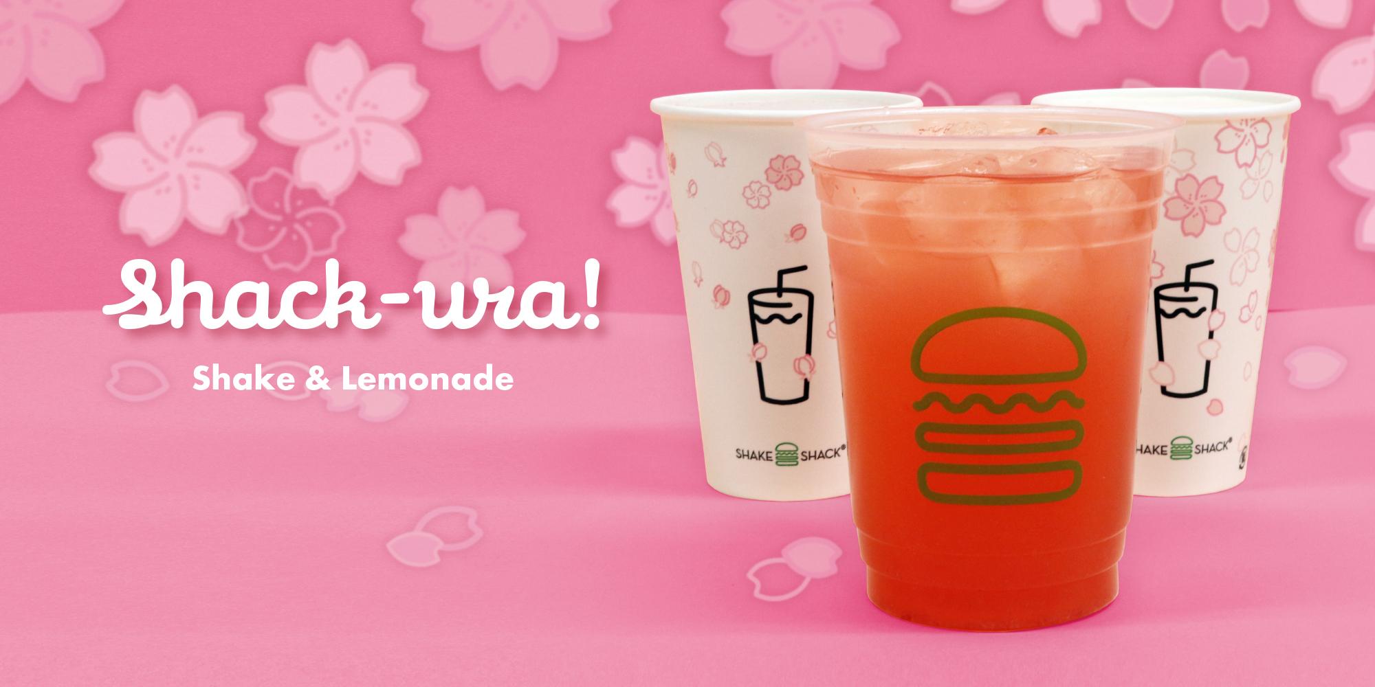 桜の季節がやってきた!新登場の桜レモネードと大人気の桜シェイクを期間限定で販売!